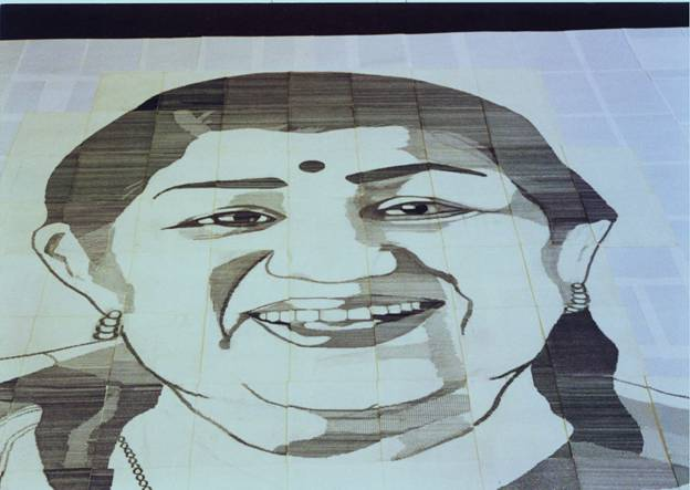 Close up of the Largest Typewritten Portrait